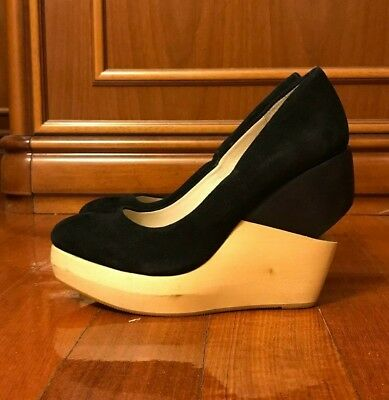 003df8a1e3 Ladies Black Shoes Size 38 Wittner Womens Platform Heel Pre Loved Hardly  Worn