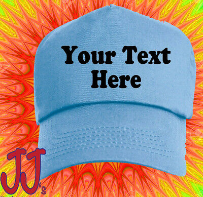 Personalised Baseball Cap Promotional Custom Hat Text Logo Mens Ladies