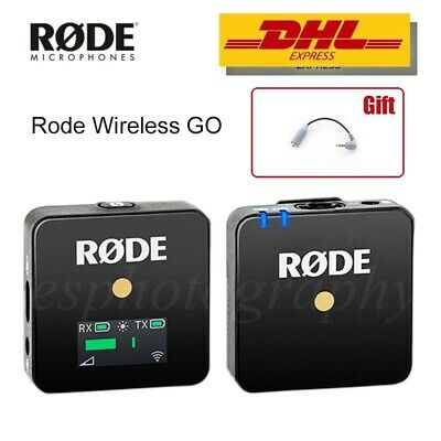 Rode Wireless GO Compact Digital Wireless Microphone 2.4GHz Fr DSLR Phone Camera