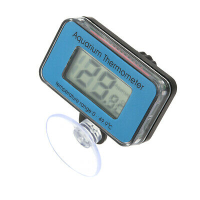 Digital LCD Aquarium Thermometer with Suction Cup Waterproof Mini Indoor A2R8