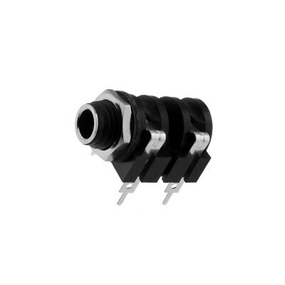 ACJM-MC Socket Jack 635mm female mono angled 90° for panel mounting