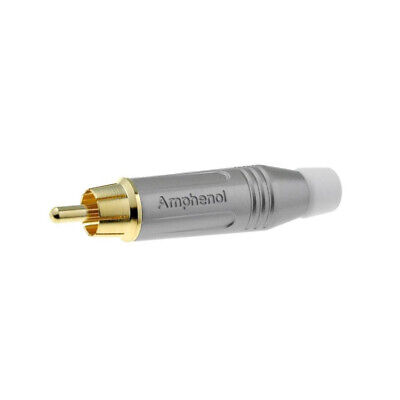 ACPR-SWH Plug RCA male straight soldering IP40 grey gold plated