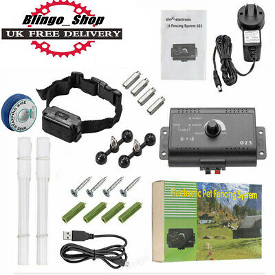 Dog Collar Electric Shock Pet Containment SystemBoundary Control Fence For 1/2