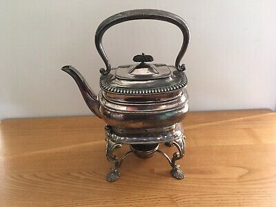Top Quality Antique Victorian Silver Plated English SPIRIT KETTLE Tea Pot Stand