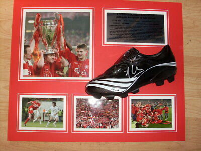 Xabi Alonso Liverpool Champions League Winners 2005 Signed Boot Montage  AFTAL
