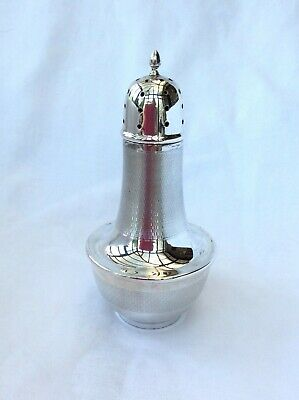1930'S ART DECO SUGAR CASTER - J Collyer, Birmingham, 1934.
