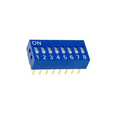 DSR-08 Switch DIP-SWITCH Poles number8 ON-OFF 0.05A/12VDC -20÷70°C