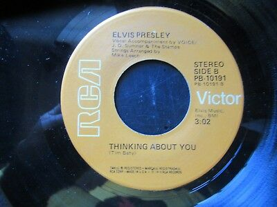 45 RPM Record  ELVIS PRESLEY   My Boy / Thinking About You  Orange RCA