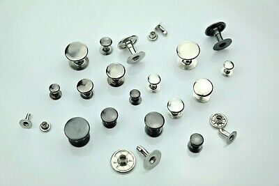 """Hollow Rivets Single Head Stainless Brass in 6mm 7mm 9mm 10mm, 0.51 """""""