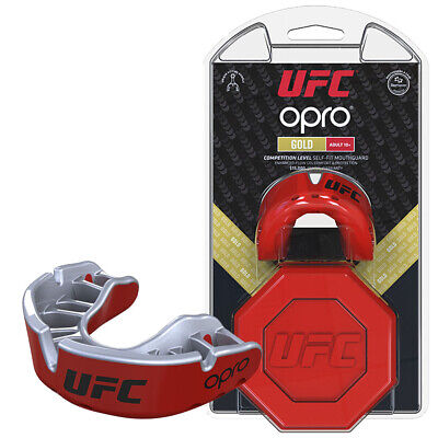 Adult Official With Case Boxing UFC Rugby Opro Gold Mouthguard Gumsheild 10