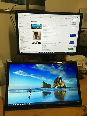 AOC e1759Fwu 17-Inch Ultra Slim 1600x900 Resolution Portable LED Monitor + Cable