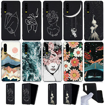 Fashion Soft Silicone TPU Skin Case Cover For Huawei P20 P30 Y7 Honor 7C 8A 10