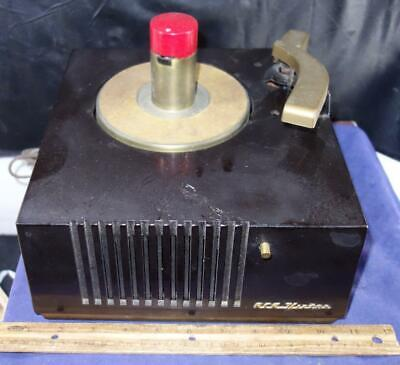 Vtg RCA Victor Bakelite Phonograph Record Player For Parts Or Restoration 9-EY-3