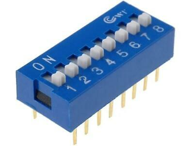 DS-08 Switch DIP-SWITCH Poles number 8 ON-OFF 0.05A/12VDC -25÷80°C