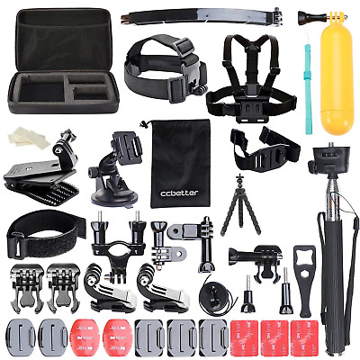 Accessories Kit 50 In 1 Action camera mounts for Gopro Hero 7 6 5 4  Hero 2018