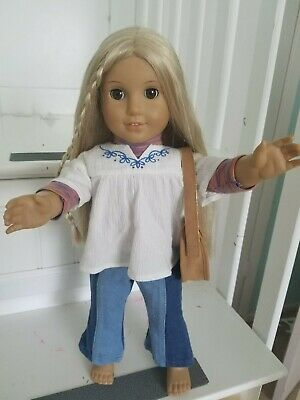 American Girl Julie Albright Blonde Hair 1970s Doll + RETIRED CLOTHES, ACCESSORI