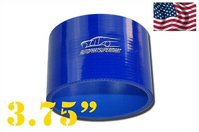 """4-ply Silicone Straight Coupler Hose Pipe couplings 95mm 3.75"""" Blue"""
