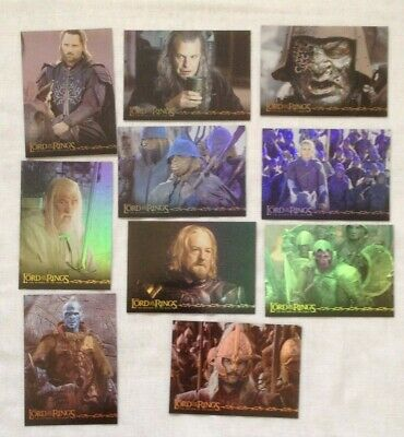 Lord of the Rings, The Return of the King, Prismatic Foil Cards, Full Set of 10
