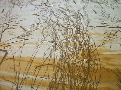 "Vera Wheat Grasses Print 59"" X 80"" Oval Tablecloth & 8 Napkins TC87"