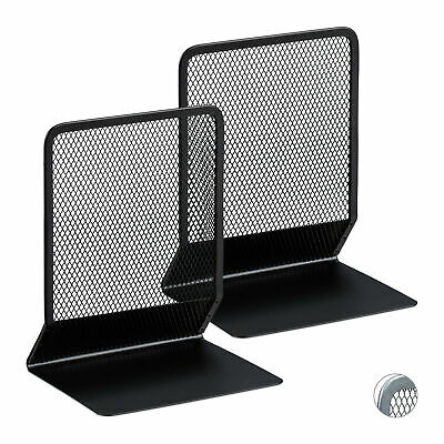 2-Piece Bookend Set, Decorative Book, CD and DVD Holders, Metal Book Support