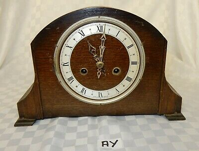 Art Deco Oak Mantel Clock with Enfield Movement (Not Working) (AY)