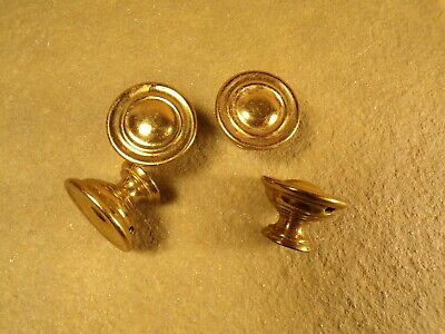 4 Vintage / Antique Brass Dresser Drawer Cabinet Furniture Pulls Knob Hardware