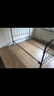 Beautiful French antique Cast Iron Double Bed