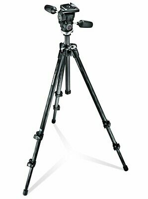 Manfrotto 294 Carbon Fiber Tripod with Quick-Release 3-Way Head (MK294C3-D3CRC2)