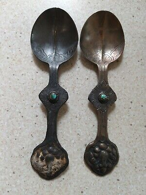 ARTS AND CRAFTS PERIOD SPOONS x 2