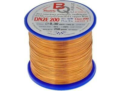 DN2E0.30/0.25 Coil wire double coated enamelled 0.3mm 0,25kg BQ CABLE