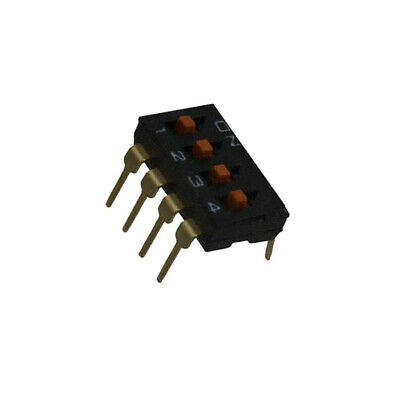 A6T-4104 Switch DIP-SWITCH Poles number4 ON-OFF 0.025A/24VDC 100MΩ OMRON