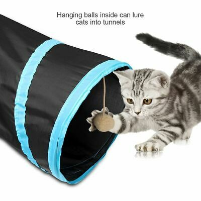 Foldable Pet Animal Tunnels 4 Way with Crinkle Playing Toy for Cats Dog Rabbits