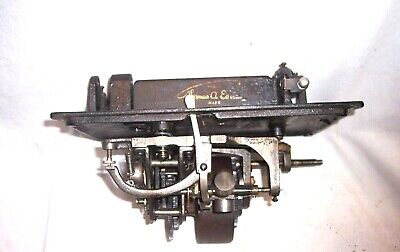 Edison Standard Phonograph Bed Plate And Motor , A Nice Running Motor