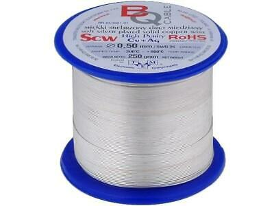 SCW-0.50/250 Silver plated wires 0.5mm 250g 150m -200÷800°C BQ CABLE