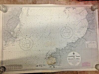 ENGLISH ADMIRALTY MARITIME CHART <> No.1410 CARNSORE POINT to BRAICH -Y- PWLL