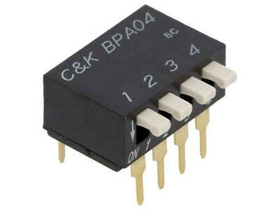 BPA04B Switch DIP-SWITCH Poles number4 OFF-ON 0.025A/24VDC 100MΩ