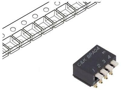 BPA04SBR Switch DIP-SWITCH Poles number4 OFF-ON 0.025A/24VDC 100MΩ