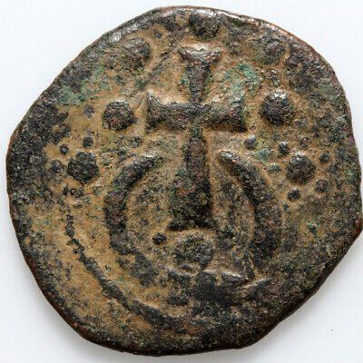 Byzantine coin Alexius I, 1081-1118AD, Class J Anonymous Follis, 1081-1118 AD.