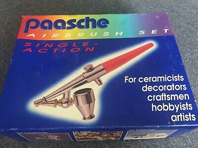 Paasche H single action siphon feed airbrush set New