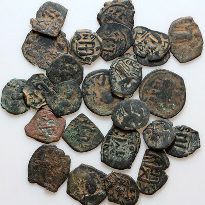 Coins & Paper Money Top Lot Of 5 Byzantine And Arab Byzantine Coins-bronze Coins: Ancient