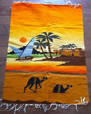 "Hand Knotted Egyptian Kilim Weaving Rug 2' 9"" x 3' 11"""
