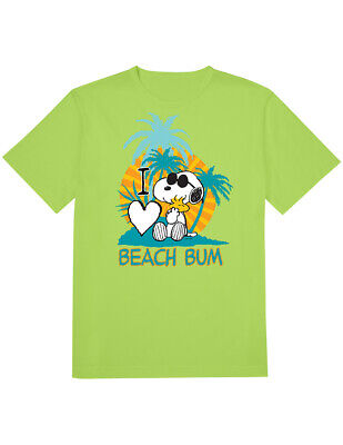 23d18ca8a NEW NWT Snoopy Woodstock Beach Bum T-Shirt, Peanuts Officially Licensed