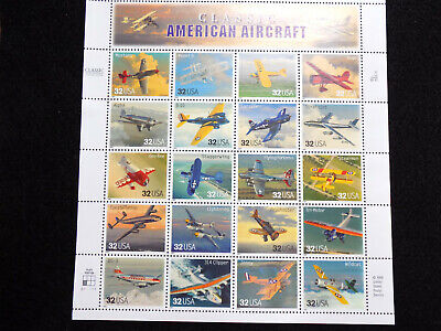 Scott #3142 Classic American Aircraft Stamps Mint Sheet Face Value - $6.40