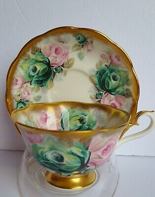 "Stunning Royal Albert Bone China Summer Bounty Series ""Jade"" Teacup & Saucer"