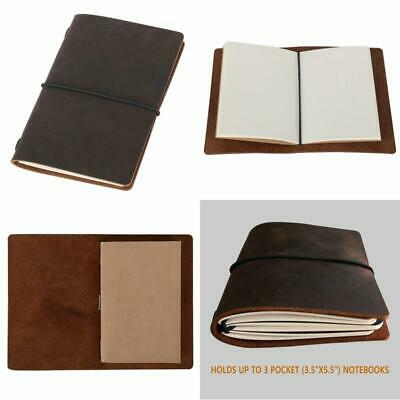 Field Notes Cover Dotted Leather Journal Travel Notebook Journal Pocket Size