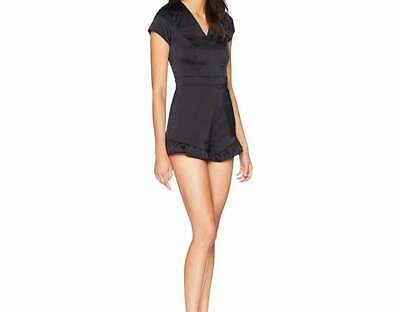 Authentic Bebe V-Neck Ruffle Romper Nwt Size 14 Msrp $119