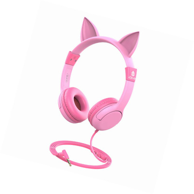 c12e321bb8a [2019 Upgrade]iClever Boostcare Kids Headphones Girls - Cat Ear Hello Kitty  Wire