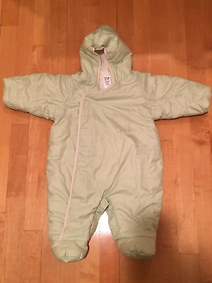 ad3d0aeda baby GAP Boy Girl Bunting Snowsuit One-piece Jumpsuit Hood Foldover Gloves  3-6M