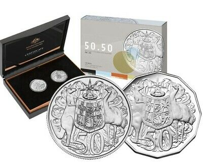 2015 50th ANNIVERSARY OF THE ROYAL AUSTRALIAN MINT 50c Two Coin Set