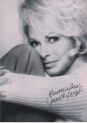 JANET LEIGH hand Signed autographed photo b/w PSYCHO lovely actress Hollywood